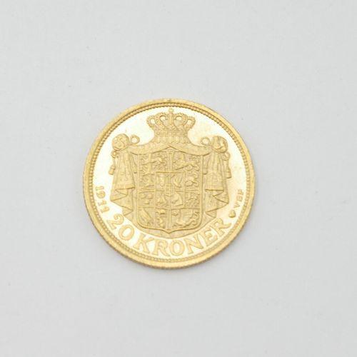 DENMARK 1911  Lot of five 20 Kroner gold coins, Frederik VIII, 1911  Total weigh…