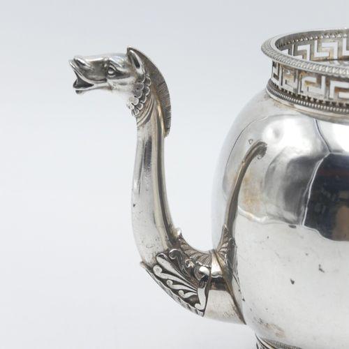 Guillaume RICHARD Paris 1809 1819  Théière en argent 950/1000e à manche en bois …