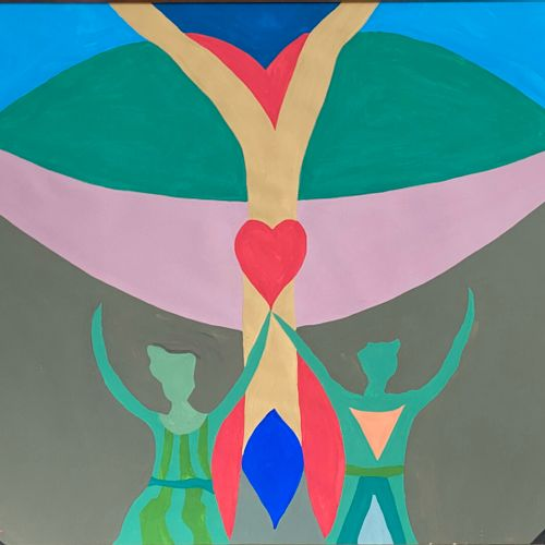 Jean Jacques LAFAYE (1958)  The tree of the heart  Gouache on Velin d'Arches  Si…