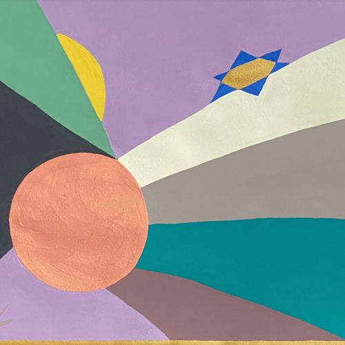 Jean Jacques LAFAYE (1958)  Sky of the Orient  Gouache on Velin d'Arches  Signed…
