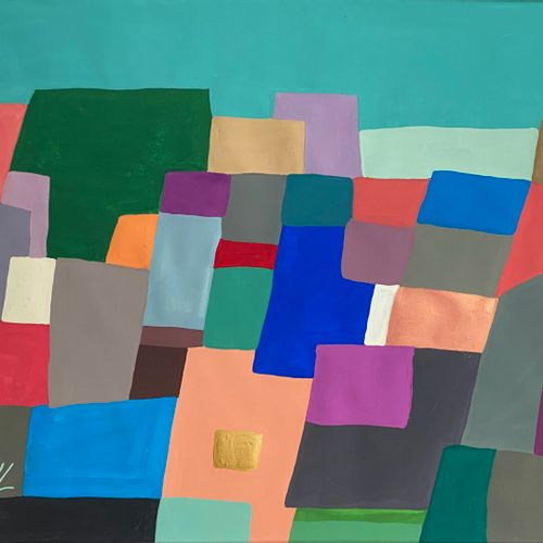 Jean Jacques LAFAYE (1958)  The wall of colors  Gouache on Velin d'Arches  Signe…