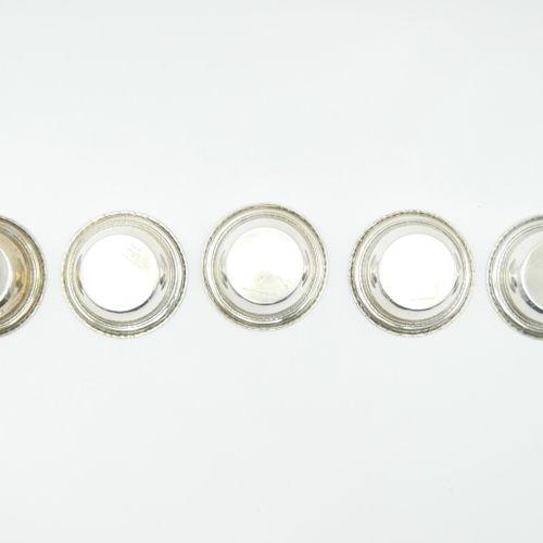 BIGELOW KENNARD XXe siècle  Suite de cinq coupelles en argent étranger 925/1000e…