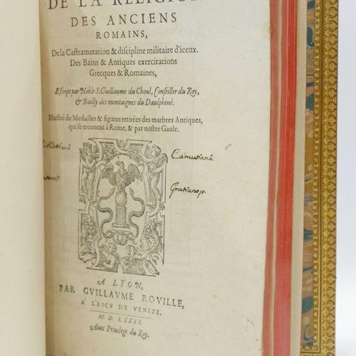 Guillaume DU CHOUL (1496 ? 1555)  Discours de la religion des anciens romains, d…