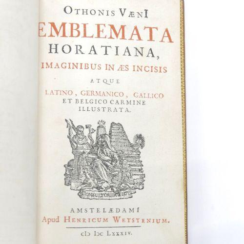Othonis VAENI  Emblemata Horatiana, Imaginibus in AES Incisis, Atque Latino, Ger…