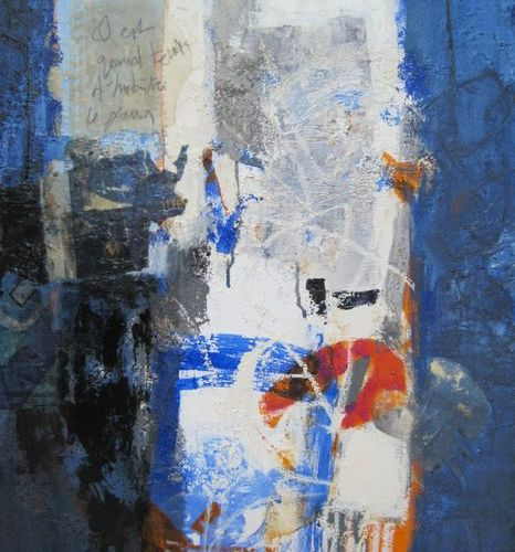 """Pirró Françoise """"The more Françoise Pirró works on her canvas, the lighter the w…"""