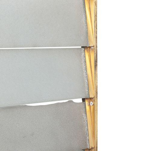 MODERNIST WORK  Radiator cover Brass, glass 96 x 97 cm. Circa 1935  Radiator cov…