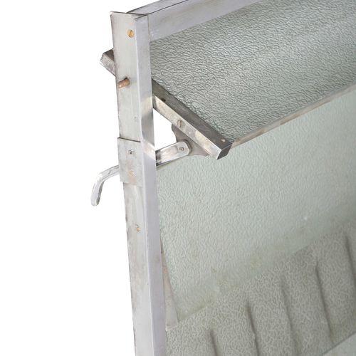 MODERNIST WORK  Radiator cover Metal, glass 105 x 109 cm. Circa 1935  Radiator c…