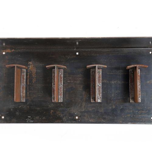 Robert MALLET STEVENS (1886 1945)  Coat rack Iron 27 x 64 x 18 cm. Circa 1930  W…