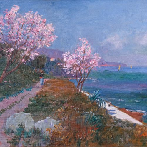 Olynthe MADRIGALI (1887 1950)  Côte à Bastia. 1918  Huile sur toileSignée et da…
