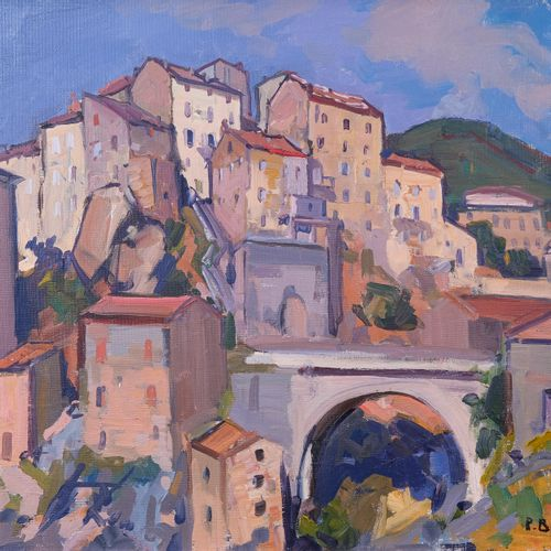 Pierre BACH (1906 1971)  Village de Sartene. 1937  Huile sur toileSignée et dat…
