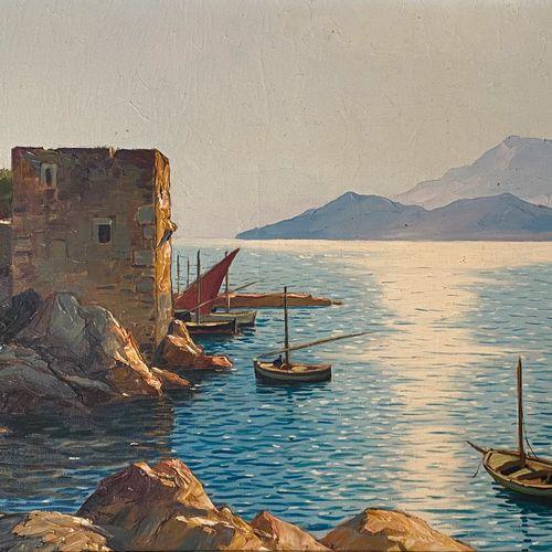 Gustave VIDAL (1895 1966)  Bord de mer  Huile sur toileSignée en bas à gauche 1…