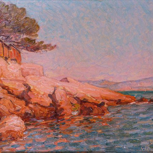 Marcel Dominique POGGIOLI (1882 1969)  Corse du sud. 1910  Huile sur panneauSig…