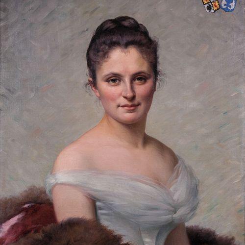 Ecole française du XIXe s.  Portrait de femme Corse. 1890  Huile sur toileSigné…