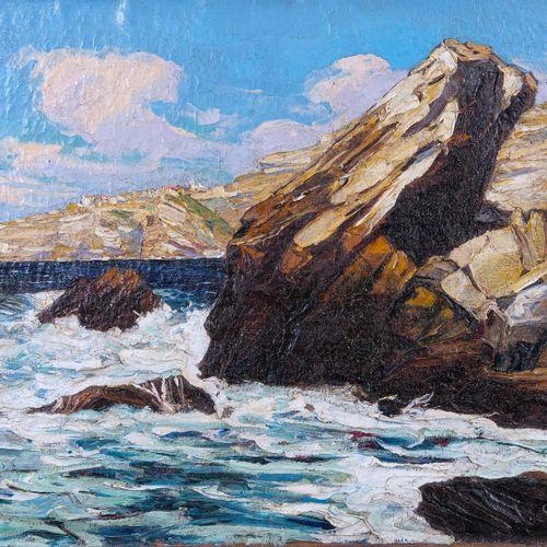 Gustave VIDAL (1895 1966)  Rochers près de Bonifacio  Huile sur toileSignée en …