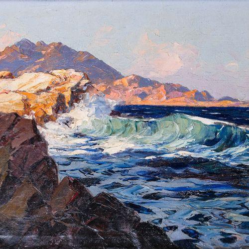 Gustave VIDAL (1895 1966)  Effet de vagues  Huile sur toileSignée en bas à gauc…