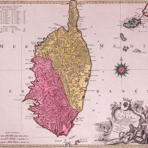 Tobie Conrad LOTTER, géographe à Augsbourg  L'Isle de Corse avec les différents …
