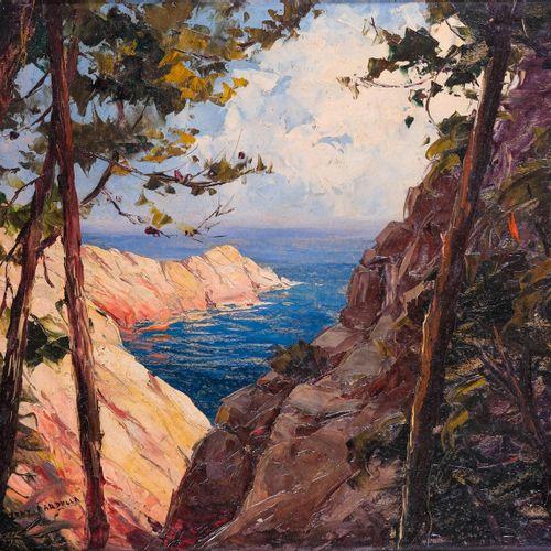 Tony CARDELLA (1898 1976)  Calanches entre Piana et Porto  Huile sur cartonSign…