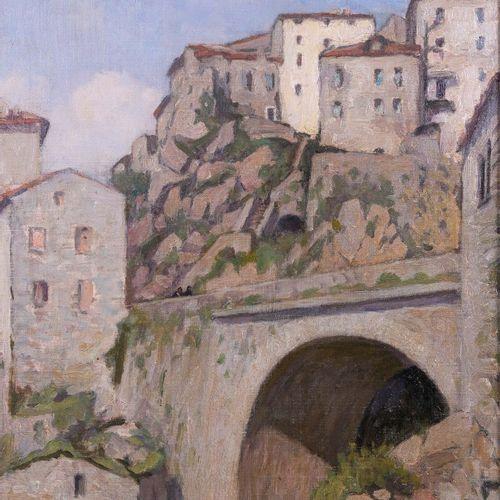 Marcel Dominique POGGIOLI (1882 1969)  Sartene, Corse  Huile sur toileSignée en…