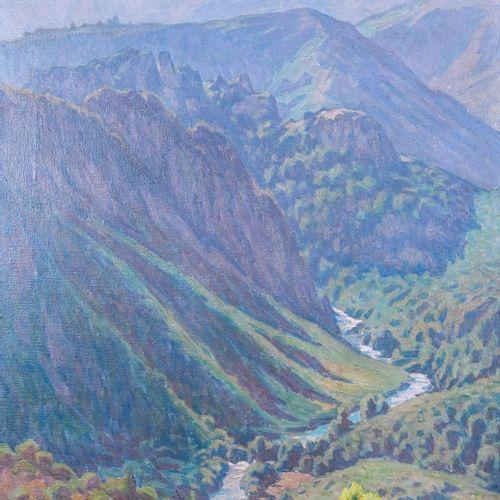 Marcel Dominique POGGIOLI (1882 1969)  Vallée à Vico  Huile sur toileSignée en …