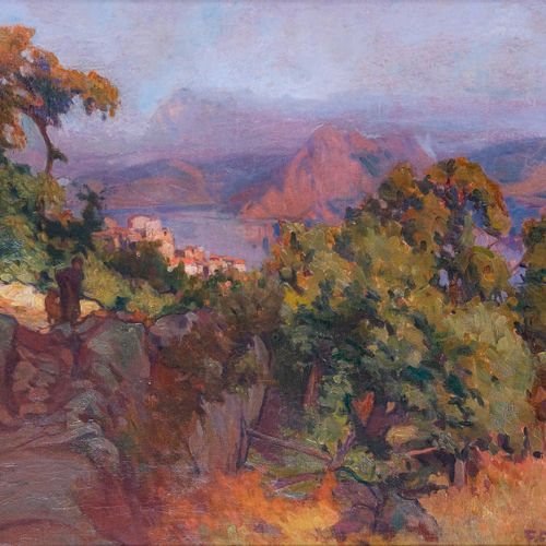 Francois CORBELLINI (1863 1943)  Piana  Huile sur toileSignée en bas à droite 5…