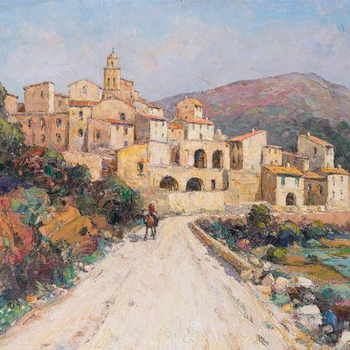 André BERONNEAU (1886 1973)  Village de Corbara en Balagne  Huile sur toileSign…