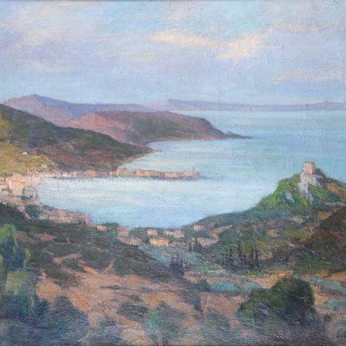 Paul Justin Marcel BALMIGERE (1882 1953)  Vue du littoral Corse et la tour génoi…