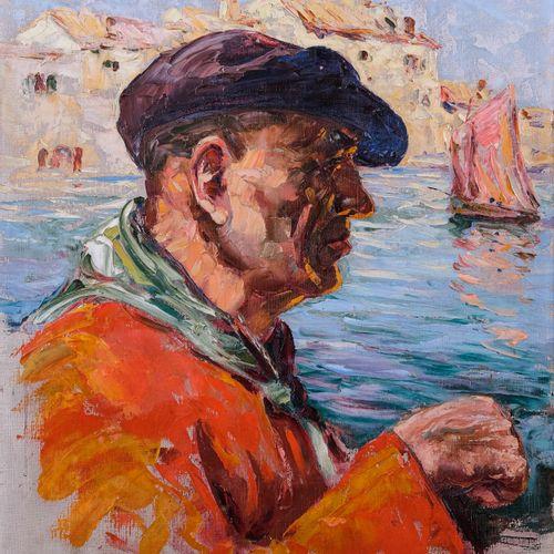 Tony CARDELLA (1898 1976)  Pêcheur corse  Huile sur toileSignée en bas à droite…