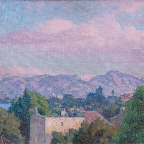 Marcel Dominique POGGIOLI (1882 1969)  Un coin de Piana  Huile sur toile maroufl…