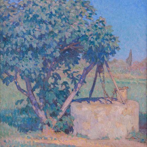 Marcel Dominique POGGIOLI (1882 1969)  Un puits en corse  Huile sur toileSignée…