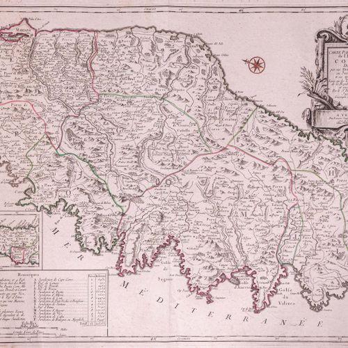Jaillot (Bernard), géographe ord.Re du Roy  Carte particulière de l'isle de Cors…