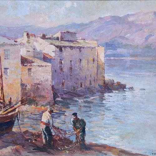 Tony CARDELLA (1898 1976)  Marine de Saint Florent  Huile sur toileSignée en ba…