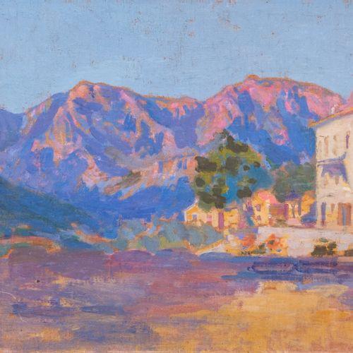 Louis Ferdinand ANTONI (1872 1940)  Maison au pieds des montagnes roses  Huile s…