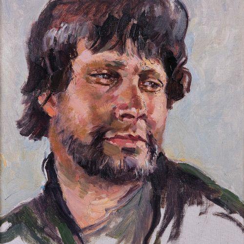 Tony CARDELLA (1898 1976)  Portrait de pêcheurs Corse  Huile sur toileSignée en…