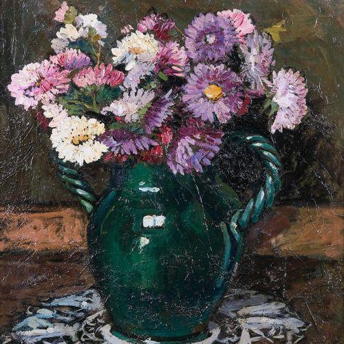 Gustave VIDAL (1895 1966)  Nature morte au bouquet de fleurs  Huile sur toileSi…