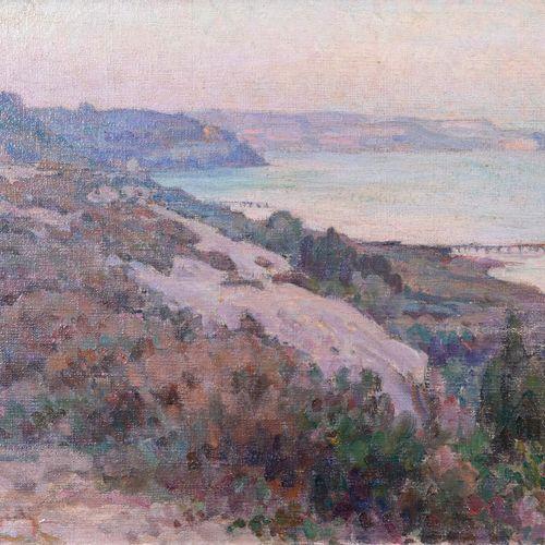 Marcel Dominique POGGIOLI (1882 1969)  Côte corse  Huile sur toileSignée en bas…