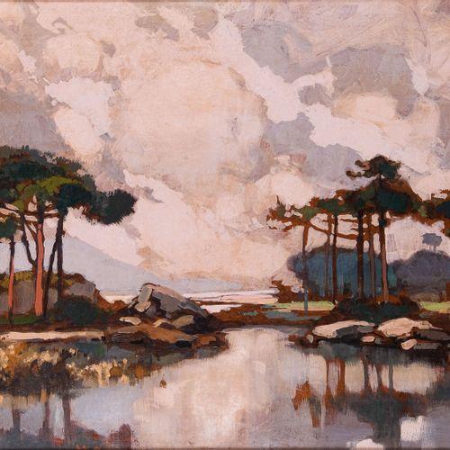 Lucien PERI (1880 1948)  Les pins  Huile sur isorel Signée en bas à droite 45 x …