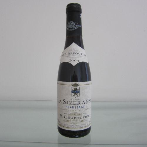 Hermitage, La Sizeranne, 2004 M. Chapoutier, étiquette correcte, bon niveau, 37,…