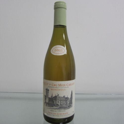 Bourgogne, Rully 1er Cru Meix Caillet, Monopole 2003, Eric de Suremain, étiquett…