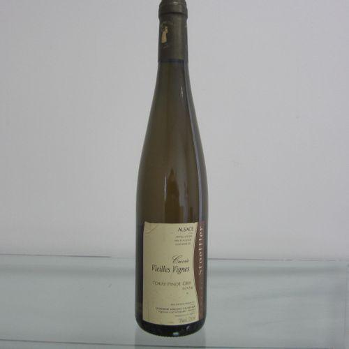 Alsace, Domaine Stoeffler, Tokat pinot gris, cuvée vieilles vignes 2004, étiquet…