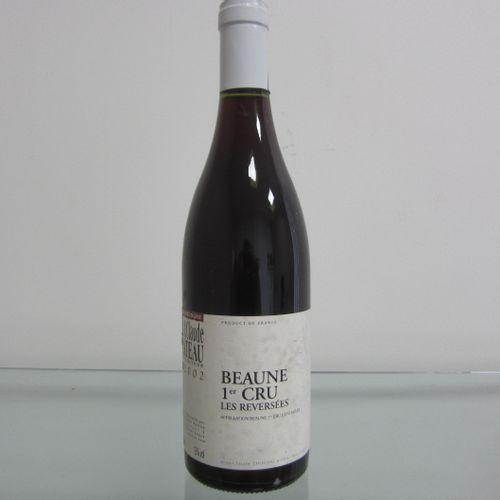 Bourgogne, Beaune 1er Cru 2002, Les reversées, Jean Claude Rateau, étiquette cor…