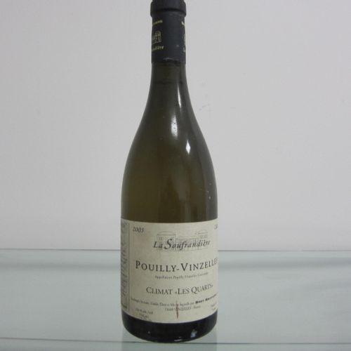 Bourgogne, Pouilly Vinzelles, La Soufrandière 2003, Climat Les Quarts, étiquette…