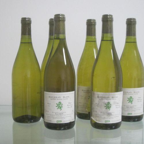 Beaujolais blanc, Bruno Debize 2008, étiquettes moyennes (une manquante), bon ni…