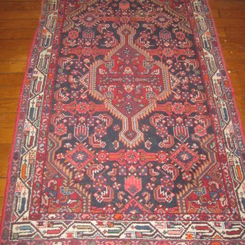 Tapis en laine à franges à motifs géométriques, 170cmx107cm