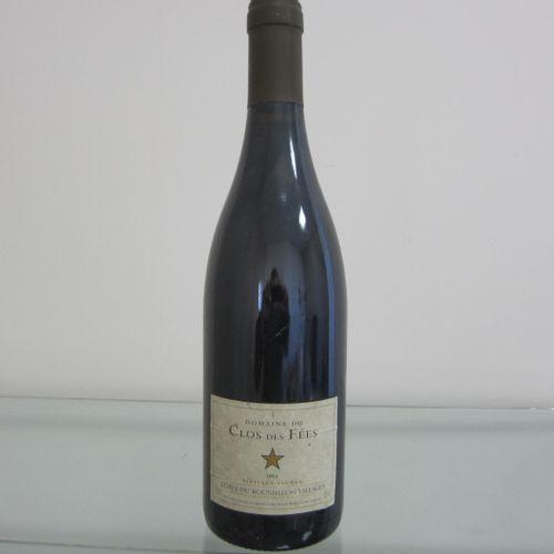 Côtes du Roussillon, Domaine du los des Fées, 2004, étiquette correcte, bon nive…