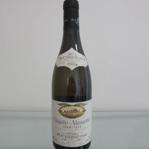 Hermitage blanc, Chante Alouette 2004, M Chapoutier, étiquette correcte, bon niv…