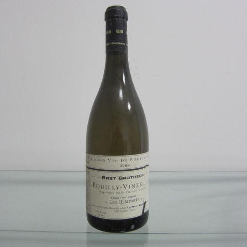 Bourgogne, Pouilly Vinzelles, Les Remparts 2004 par Bret Brothers, étiquette cor…
