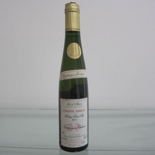 Alsace, Pierre Frick, tokay pinot gris, vendanges tardives 2001, étiquette corre…