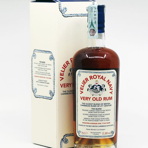 1 B VERY OLD RUM VELIER ROYAL NAVY  Année : NM  Appellation : Velier  Titrage : …