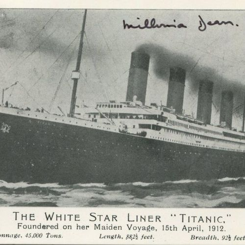 RMS TITANIC: Selection of signed colour 4 x 6 postcards and slightly smaller (1)…