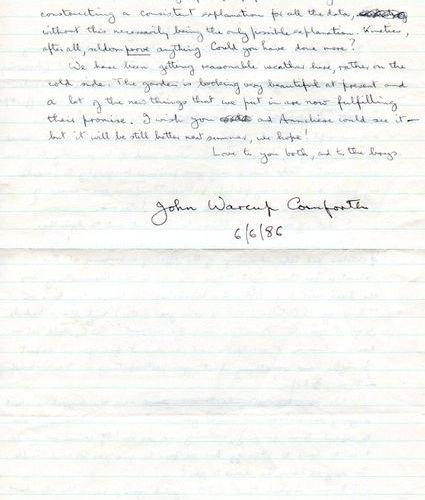 CORNFORTH JOHN: (1917 2013) Australian British Chemist, Nobel Prize winner for C…
